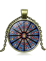 cheap -Women's Pendant Necklace Handmade Kaleidoscope Vintage Colorful Glass Alloy Bronze 51-80 cm Necklace Jewelry For Gift Festival