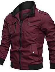cheap -Men's Hiking Jacket Outdoor Windproof Multi-Pocket Jacket Cotton Hunting Climbing Camping / Hiking / Caving Black / Red / Army Green / Khaki / Blue