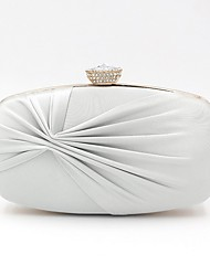 cheap -Women's Crystals Satin Evening Bag 2020 White / Purple