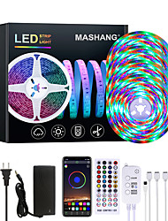 cheap -20M LED Strip Lights Waterproof RGB LED Light Music Sync 1200LEDs LED Strip 2835 SMD Color Changing LED Strip Light Bluetooth Controller and 40 Keys Remote LED Lights for Bedroom Home Party