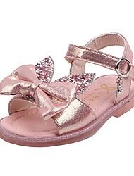 halpa -Tyttöjen Comfort PU Sandaalit Pikkulapset (4-7 vuotta) Musta / Pinkki / Hopea Kesä