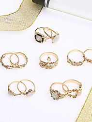 cheap -Women's Ring 1pack Gold Alloy Crown Classic Elegant Trendy Birthday Gift Jewelry Snake Snake Crown