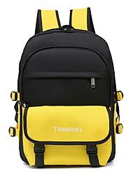 povoljno -Vodootporno Oxford tkanje Patent-zatvarač ruksak Color block Dnevno Red / Bijela / Djetelina