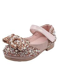 cheap -Girls' Flats Flower Girl Shoes Halloween Christmas PU Little Kids(4-7ys) Big Kids(7years +) Daily Black Pink Green Summer Fall