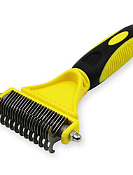 cheap -Cat Dog Grooming Cleaning Hair Removal Product Shedding Tools Stainless Steel Comb Portable Pet Grooming Supplies Silver 1