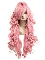 povoljno -Sintetičke perike Perike za maškare Luka 035G Vocaloid Kovrčav Cosplay S konjskim repom Perika Dug Pink + Red Ružičasta Sintentička kosa 28 inch Žene Cosplay Pink hairjoy