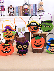 cheap -Halloween Party Toys Halloween Gift Bags Trick or Treat Halloween Candy Buckets 8 pcs Skull Skeleton Cartoon with Handles Non-woven Fabrics Kid's Adults Trick or Treat Halloween Party Favors Supplies
