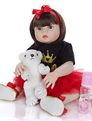 cheap -KEIUMI 22 inch Reborn Doll Baby & Toddler Toy Reborn Toddler Doll Baby Girl Gift Cute Washable Lovely Parent-Child Interaction Full Body Silicone 23D116-C308-T19 with Clothes and Accessories for