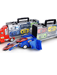 cheap -Vehicle Playset Construction Truck Toys Launch Cars Mini Cargo Truck Drop-resistant Plastic Mini Car Vehicles Toys for Party Favor or Kids Birthday Gift Catapult 1+6 pcs / Kid's