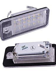 cheap -2PCS 12V License Plate Light For Audi A3 S3 A4 S4 B6 B7 A6 C6 S6 A8 S8 RS4 RS6 Q7 CANBUS Beetle Xenon Led Number License Light