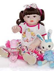 cheap -KEIUMI 22 inch Reborn Doll Baby & Toddler Toy Reborn Toddler Doll Baby Girl Gift Cute Washable Lovely Parent-Child Interaction Full Body Silicone KUM23FS01-WW174 with Clothes and Accessories for