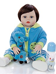 cheap -KEIUMI 19 inch Reborn Doll Baby & Toddler Toy Reborn Toddler Doll Baby Boy Gift Cute Washable Lovely Parent-Child Interaction Full Body Silicone 19D11-C24-S08-T06 with Clothes and Accessories for