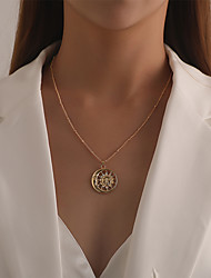 cheap -Women's Pendant Necklace Necklace Retro Sun Moon Classic Rustic Vintage Trendy Chrome Gold Silver 53 cm Necklace Jewelry 1pc For Party Evening Prom Street Beach Festival
