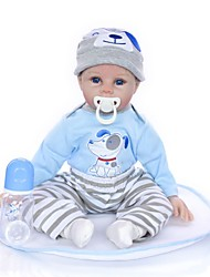 cheap -KEIUMI 22 inch Reborn Doll Baby & Toddler Toy Reborn Toddler Doll Baby Boy Gift Cute Lovely Parent-Child Interaction Tipped and Sealed Nails 3/4 Silicone Limbs and Cotton Filled Body 22D33-C237 with