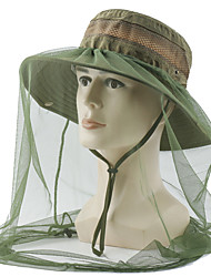 cheap -Sun Hat Hiking Hat Mosquito Head Net Hat 1 PCS Portable Anti-Mosquito Anti-Eradiation Comfortable Patchwork Cotton Autumn / Fall Spring Summer for Men's Women's Fishing Camping / Hiking / Caving