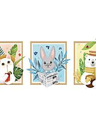 billige -søde dyr vægklistermærker dekorative vægklistermærker, pvc boligdekoration vægoverføringsbillede vægdekoration / aftagelig