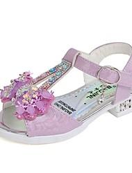 cheap -Girls' Comfort PU Sandals Little Kids(4-7ys) Purple / Pink Summer