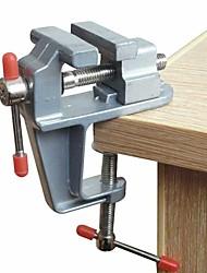cheap -Aluminum Miniature Small Jewelers Hobby Clamp On Table Bench Vise Mini Tool Vice Muliti-Funcational
