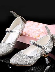 cheap -Girls' Heels Flower Girl Shoes Princess Shoes Halloween PU Big Kids(7years +) Silver Spring