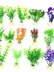 cheap -5pcs Aquarium Artificial Plants Fish Tank Decoration Water Grass Decor View Decorations Aquarium Home Decoration Accessories