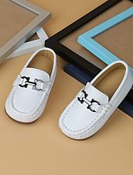 cheap -Boys' Loafers & Slip-Ons Moccasin Microfiber Little Kids(4-7ys) White / Black Summer / Rubber