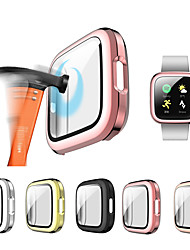 cheap -Glass and case For Fitbit Versa 2 Tempered bumper Screen Protector and cover Versa 2 watch Accessories