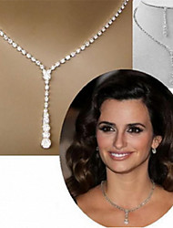 cheap -Women's Jewelry Set Bridal Jewelry Sets Luxury Elegant European Fashion Imitation Diamond Earrings Jewelry Silver For Wedding Anniversary Party Evening Formal Engagement