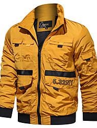 cheap -Men's Jacket Daily Sports Military Regular Letter Black / Blue / Yellow US32 / UK32 / EU40 / US34 / UK34 / EU42 / US36 / UK36 / EU44