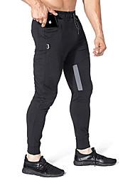 זול -מכנסיים בגדי ריקוד גברים Jogger / צ'ינו אחיד בסיסי ספורט