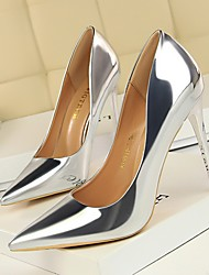 cheap -Women's Heels Stiletto Heel Pointed Toe Daily PU Solid Colored Summer Black Champagne Khaki / 3-4