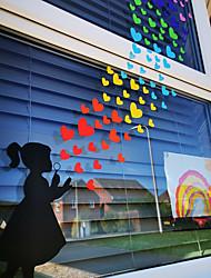billige -lille pige vægklistermærker dekorative vægklistermærker, pvc boligindretning vægoverføringsbilleder vægdekoration / aftagelig