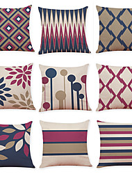cheap -1 Set of 9 pcs Modern Geometry Series  Decorative Linen Throw Pillow Cover Home Sofa Decorative