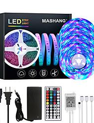 cheap -20M LED Strip Lights RGB Tiktok Lights 1200LEDs Flexible Color Change SMD 2835 with 44 Keys IR Remote Controller and 100-240V Adapter for Home Bedroom Kitchen TV Back Lights DIY Deco
