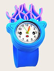 cheap -Kids Quartz Watches Quartz New Arrival Chronograph Analog Blue / Silicone