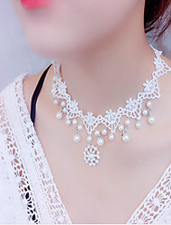 cheap -Harness Necklace Women's Imitation Pearl Wedding White 22-50 cm Necklace Jewelry for Wedding Halloween Gift Festival