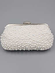 cheap -Women's Pearls / Crystals Synthetic Evening Bag 2020 White / Beige