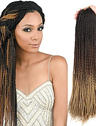 cheap -Faux Locs Dreadlocks Senegalese Twist Box Braids Synthetic Hair Braiding Hair 30 roots / pack 1pack / There are 30 roots per pack. Normally five to six packs are enough for a full head.