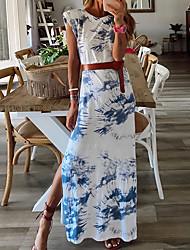 halpa -Naisten A-linjainen mekko Maksimekko - Hihaton Painettu Kesä Vapaa-aika 2020 Uima-allas S M L XL