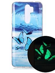billige -etui til xiaomi redmi note 7 redmi note 8 redmi note 8 pro glød i mørket / mønster bakdeksel sommerfugl tpu for mi 10 mi 10 pro