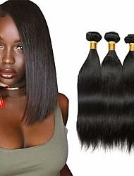 abordables -Lot de 3 Tissage de cheveux Cheveux Brésiliens Droit Extensions de cheveux Naturel humains Cheveux Naturel Rémy Paquets de 100% Remy Hair Weave 300 g Tissages de cheveux humains Extensions Naturelles