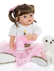 cheap -KEIUMI 22 inch Reborn Doll Baby & Toddler Toy Reborn Toddler Doll Baby Girl Gift Cute Washable Lovely Parent-Child Interaction Full Body Silicone 23D95-C177-T19 with Clothes and Accessories for