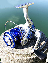 cheap -Fishing Reel Spinning Reel 5.2:1 Gear Ratio+13 Ball Bearings Hand Orientation Exchangable General Fishing