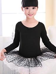 olcso -Balett Akrobatatrikó / Egyrészes Csokor Fodrozott Lány Edzés Hétköznapi viselet Hosszú ujj Pamut