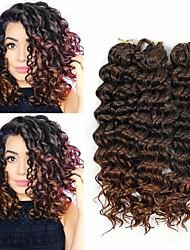cheap -Crochet Hair Braids Deep Wave Box Braids Blonde Burgundy Auburn Synthetic Hair 14 inch Braiding Hair 3pcs / pack