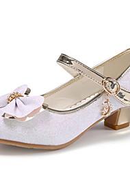 cheap -Girls' Heels Flower Girl Shoes Princess Shoes Halloween PU Little Kids(4-7ys) White Pink Fall Spring