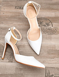 cheap -Women's Heels Summer Stiletto Heel Pointed Toe Daily PU Nude / White / Black