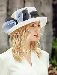 abordables -Coiffure Loisir Polyester Chapeaux de paille avec Noeud 1pc Décontracté / Usage quotidien Casque