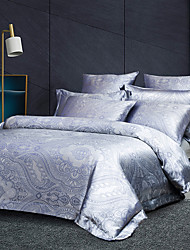 cheap -Duvet Cover Sets Luxury Silk / Cotton Jacquard 3 Piece Bedding Set Bed Linen Sheet Quilt Covers Bedclothes with Soft Lightweight Microfiber(Include 1 Duvet Cover and 1or 2 Pillowcases)