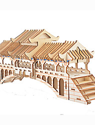 cheap -3D Puzzle Paper Model Model Building Kit Famous buildings Bear DIY Hard Card Paper Classic Kid's Unisex Boys' Toy Gift