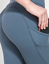cheap -Women's Running Tights Leggings Compression Pants Athletic Bottoms with Phone Pocket Nylon Elastane Fitness Gym Workout Running Jogging Training Tummy Control Butt Lift Breathable Sport Purple Blue